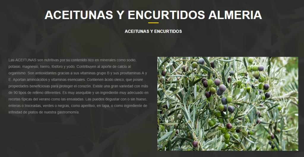 COMPRAR ACEITUNAS EN ALMERIA