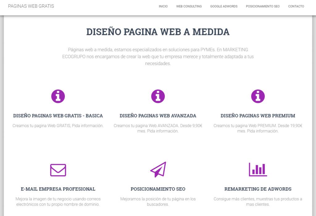 HACER PAGINA WEB EN ALMERIA
